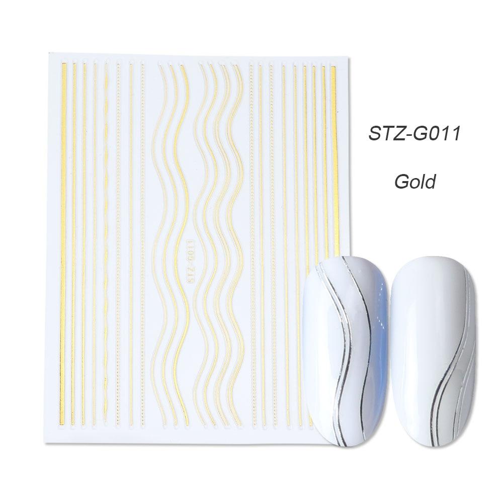 gold silver 3D stickers STZ-G011 gold