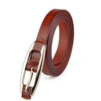 2016 Luxury Belt Women Genuine Leather Belts For Women Fashion Wild Casual Retro Thin Leather Belt