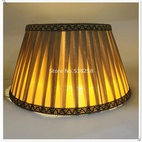 E27 Lampshae for table lamp coffee and beige lampshade for tablelamp