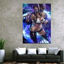 1 Piece LOL League of Legends DJ Akali Game Poster Canvas Paintings Wall Sexy Girl Art for Home Decor Wholesale