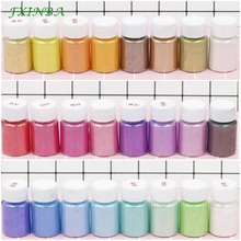 FXINBA 24 Colors Mica Glitter Powder DIY Slime Supplies Toys Pigment Decor Making Paint/Nail Art/Powder Dye Fluffy Lizun Clay цена