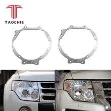 TAOCHIS Car Styling cornice modulo adattatore set FAI DA TE Del Supporto Della Staffa per Mitsubishi Pajero Wagon Hella 3r 5 lente Del Proiettore