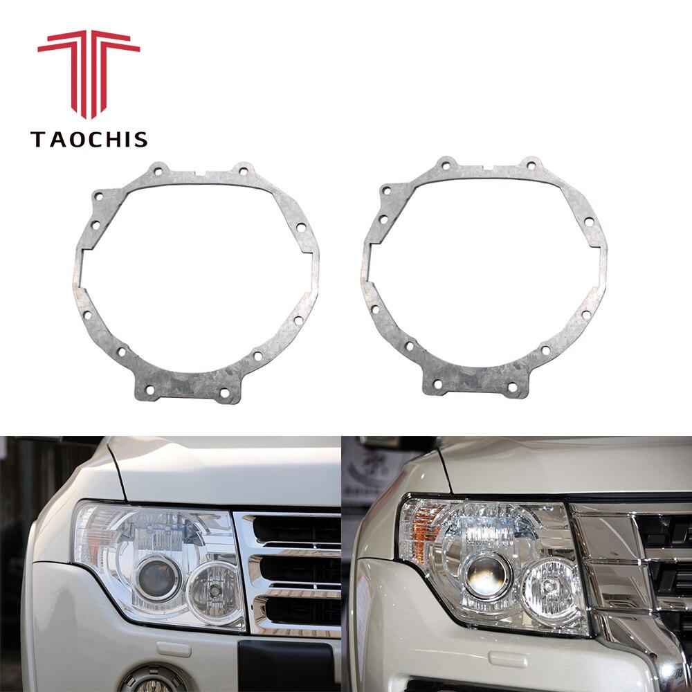 TAOCHIS style de voiture cadre module adaptateur ensemble bricolage Support Support pour Mitsubishi Pajero Wagon Hella 3r 5 Projecteur lentille