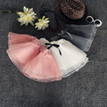 2016 New Arrival Kids Pleated Skirt Half-length Organza Veil Sweet Girl Tutu Skirt On Sale