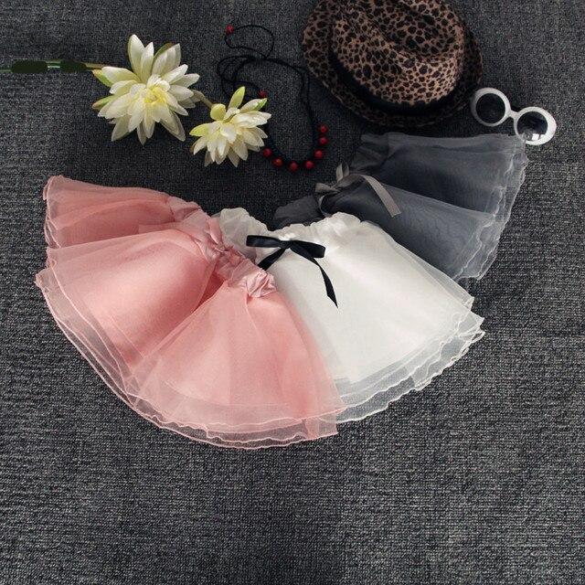 2016 New Arrival Kids Pleated Skirt Half-length Organza Veil Sweet Girl Tutu Skirt On Sale