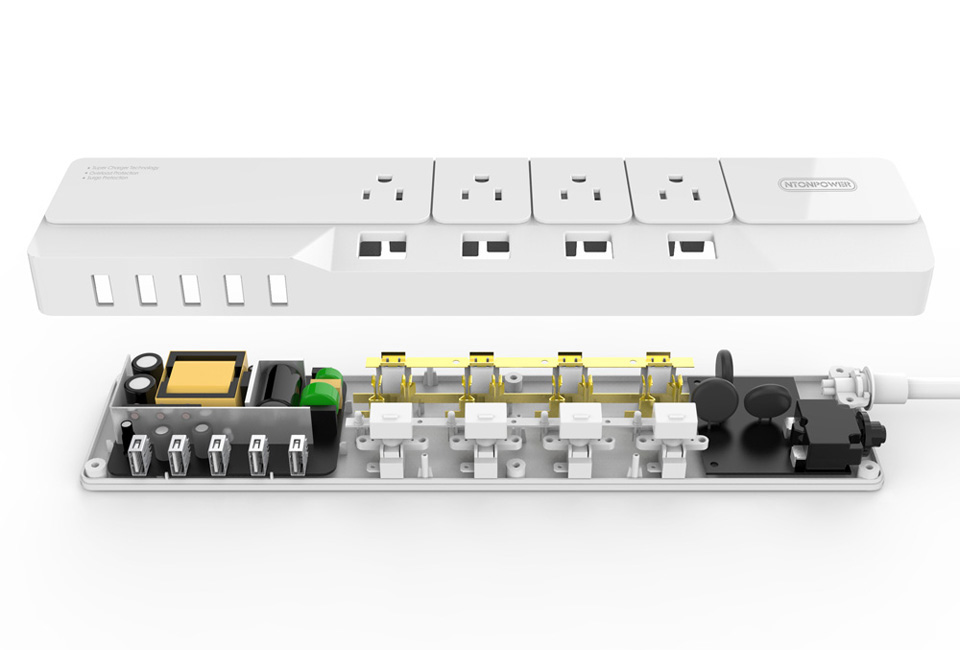 NTONPOWER NSJ US Plug Power Strip (10)