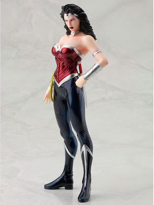 ФОТО Wonder Woman 1/8 Scale Painted Figure Justice League Doll Brinquedos Anime PVC Action Figure Collectible Model Toy 18cm KT3414