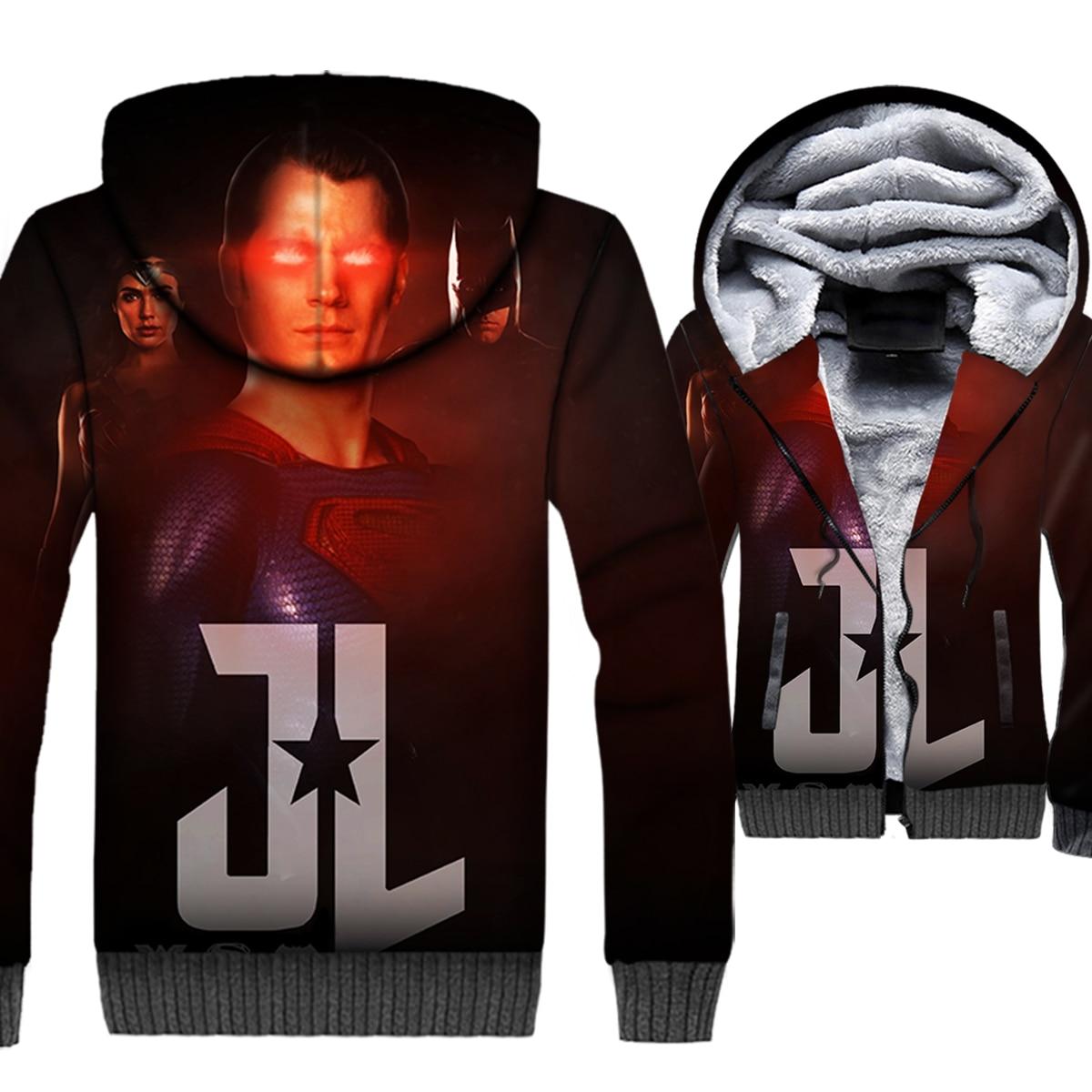 winter thick coats men superhero Wonder Woman sweatshirts Superman batman jackets 2019 fashion 3D printed hoodies tracksuits man in Hoodies amp Sweatshirts from Men 39 s Clothing