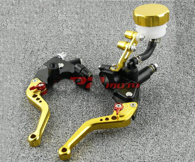 Free Shipping Suitable for 7 / 8'' 22mm Motorcycle Brakes Clutch Brake Levers Master Cylinder - - Gold