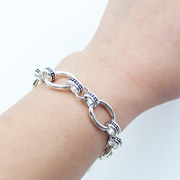 TMS Basic Link Chain Bracelets Fit Charm Thomas Style Rebel At Heart Fine Jewelry Gift In