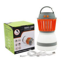 with Solar Panel USB Charging Pest Control Repeller Portable LED Camping Light Mosquito Killer Lamp Outdoor for Garden Home Use