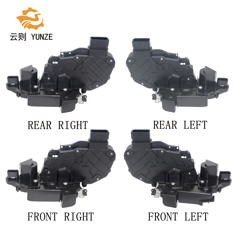 4PCS FRONT REAR LEFT RIGHT SIDE DOOR LATCH MECHANISM LOCK ACTUATOR FOR LAND RANGE ROVER SPORT EVOQUE DISCOVERY 4 2010- lr011275 high quality car door latch front right for lr evoque freelander 2 discovery range rover sport auto body parts supplier