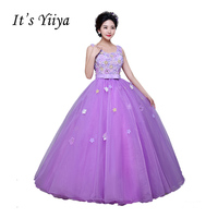 Free Shipping Waistband Wedding Dress Lace Up Bridal Boat Gowns Purple Vestidos De Novia Wedding Dresses Bride Frocks QSZY015