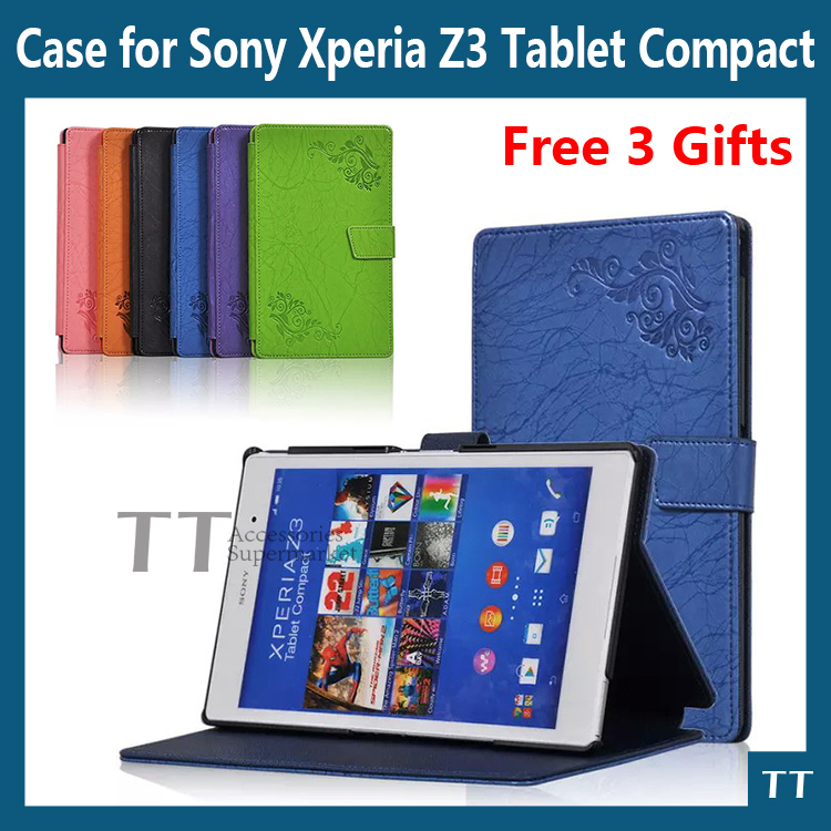 For sony z3 compact case Smart PU leather Case cover For Sony Xperia Z3 Compact tablet cover case + Free 3 Gifts musetti arabica кофе молотый 250 г