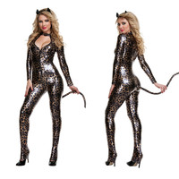 2017 Halloween Costumes Role Playing Leopard Cat Costume Nightclub Stage Clothes Adult Games Erotic Lingerie Sex
