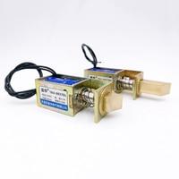 Manyetik kilit dc 6V 12V 24V elektrikli kilit elektromanyetik kapı kilidi kuvvet 15N/10N inme 10mm kilit lineer Solenoid S0837DL