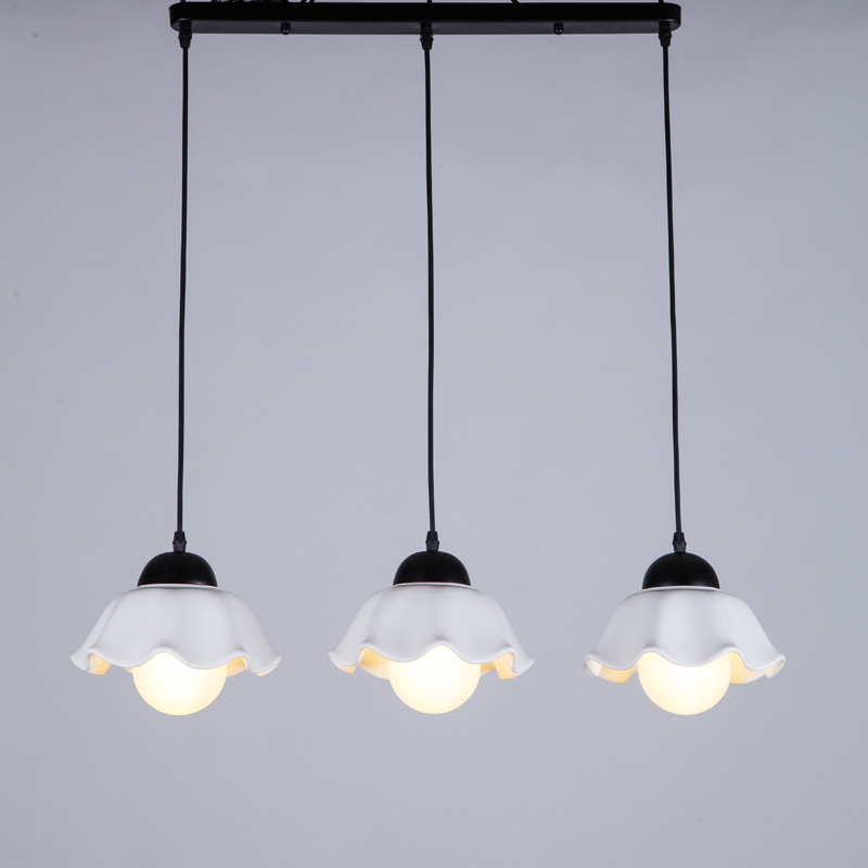Modern Pendant Lights Fixtures Living Room Kitchen Gift E27 5W Led Bulbs  White Ceramics Lamp Shades