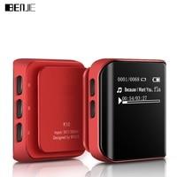 Original BENJIE Sports MP3 Player K10 Mini 8G Hyperboloid OLED MP3 Anti sweat Hifi Music Player Support FM Radio E book Clip
