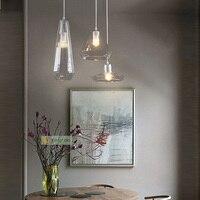 Nowoczesne Minimalistyczne lampy wiszące Restauracja Bar Licznik Wyświetlania Okna Wisiorek Art Led Cień Szkła Kryształowego wisiorek światła