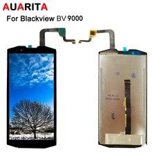 Lcd para blackview bv9000 display lcd painel de toque digitador da tela vidro substituição assembléia para blackview bv 9000 bv9000