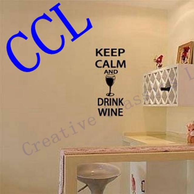 Online Shop Free shipping Bar pub home wine wall art decor, Keep ...