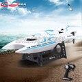 Shuang Ma 7016 RC barco 2.4G impermeable efecto de fuerte conductor de agua sistema de seguridad de control remoto barco barcos de regata de Agua juguetes
