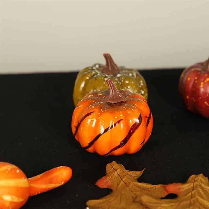 16 шт. Хэллоуин фруктовый реквизит набор имитация искусственная Тыква осень кленовый лист гирлянда на Хэллоуин День благодарения украшение дома