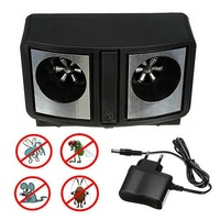 Electronic Ultrasonic Pest Repeller Black Dual Sonic Mice Rat Rodent Repellent Control Mosquito Cockroach Bug EU Plug Low Power
