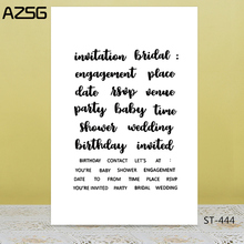 AZSG Birthday Wedding Congratulations Clear Stamps For DIY Scrapbooking/Card Making/Album Decorative Silicone Stamp Crafts