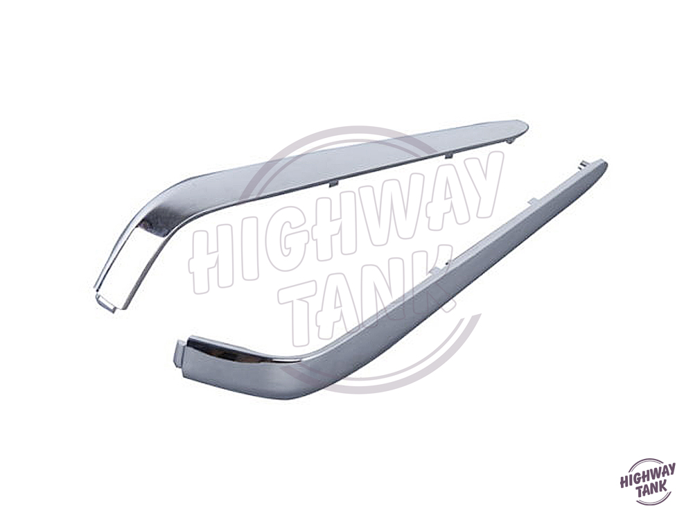 1 Pair Chrome Motorcycle Rear Decoration Trunk Trims Strips Moulding case for Honda Goldwing GL1800 2001-2011 high quality chrome rear trunk streamer for honda jazz fit 09 up free shipping brand new