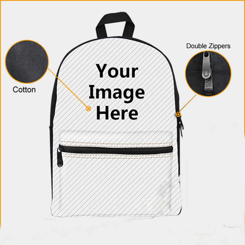 THIKIN amerykański zwierzę styl zamek torby plecak dla nastoletnich dziewcząt chłopców płótno plecak dla dzieci szkoła dla dzieci Bookbags Mochila