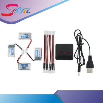 4pcs 3.7V150mAh 2S li-po 30C Battery With x4 USB charger Set For Eachine E010 Furibee F36 JJRC H36 RC Quadcopter Spare Parts
