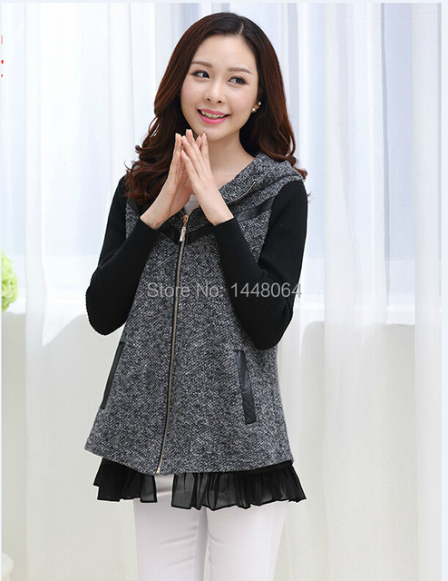 Spring Fall Women Short Jacket Fashion Long-sleeved Jacket Slim Hooded Jacket