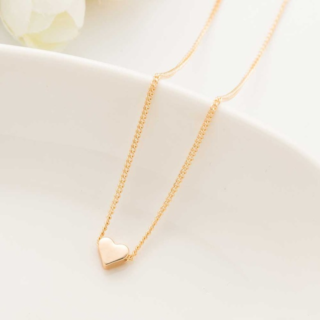 AILEND 2018 New Hot Trendy Tiny Heart Short Pendant Necklace Women Gold Chain Lover Lady Girl Gifts Bijoux Fashion Jewelry