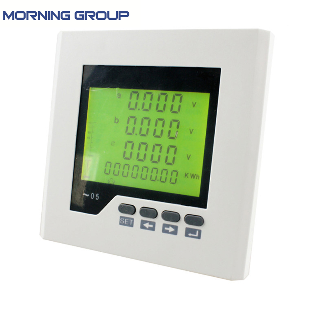 3D2Y lcd digital panel power meter ammeter voltmeter, three phase Multifunction Meter with RS485 communication AC/DC 85V~265V