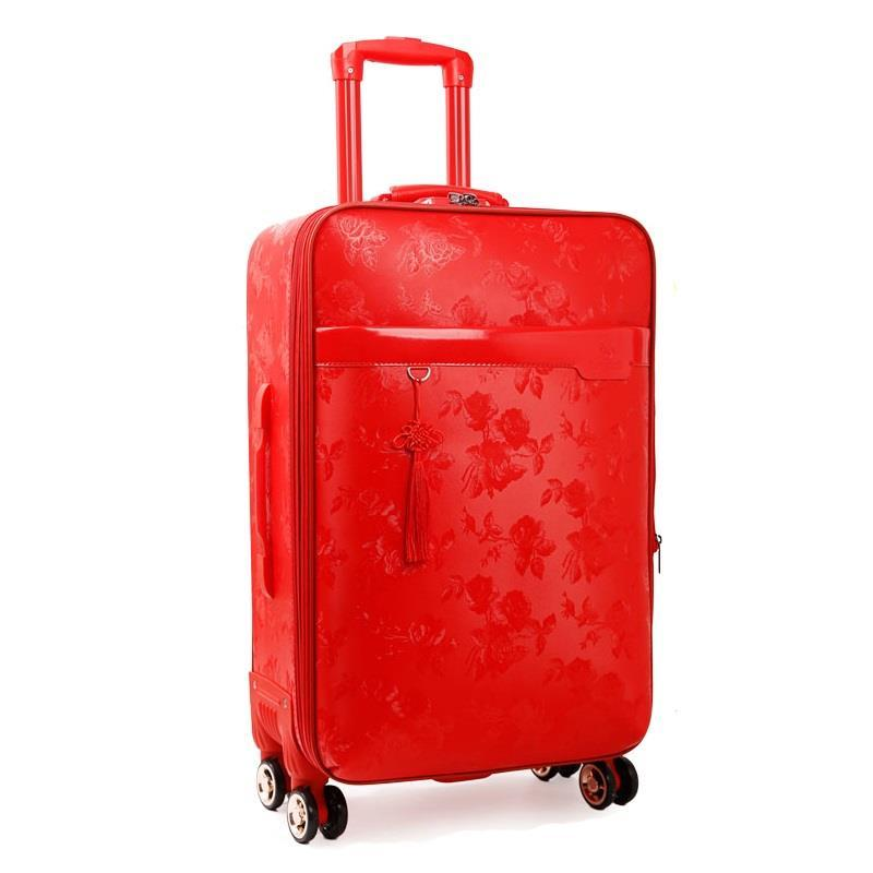 20222426inch PU Leather trip travel malas de viagem com rodinhas trolley koffer maletas valiz suitcase carry on luggage