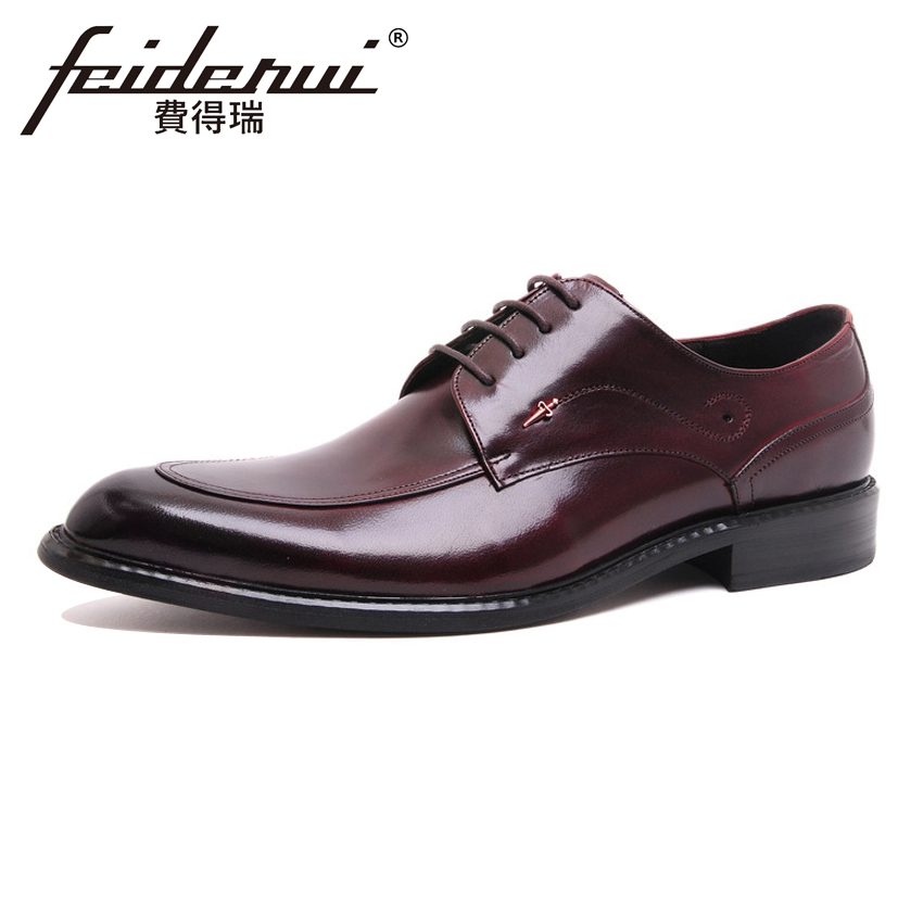 High Quality Genuine Cow Leather Men's Oxfords Round Toe Lace-up Man Formal Dress Flats Wedding Party Derby Shoes For Man ASD95 good quality men genuine leather shoes lace up men s oxfords flats wedding black brown formal shoes