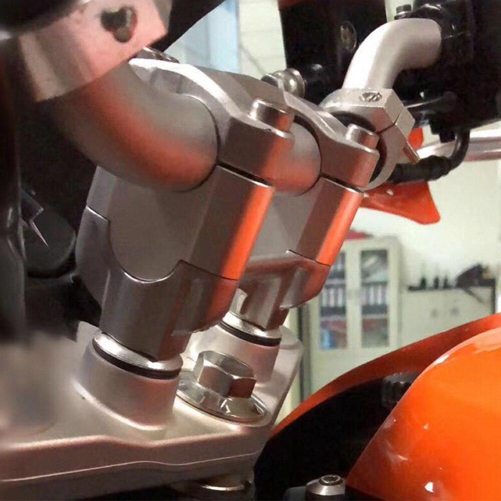 Motorcycle Custom Handlebar Riser Extend Adapter For KTM 200 390