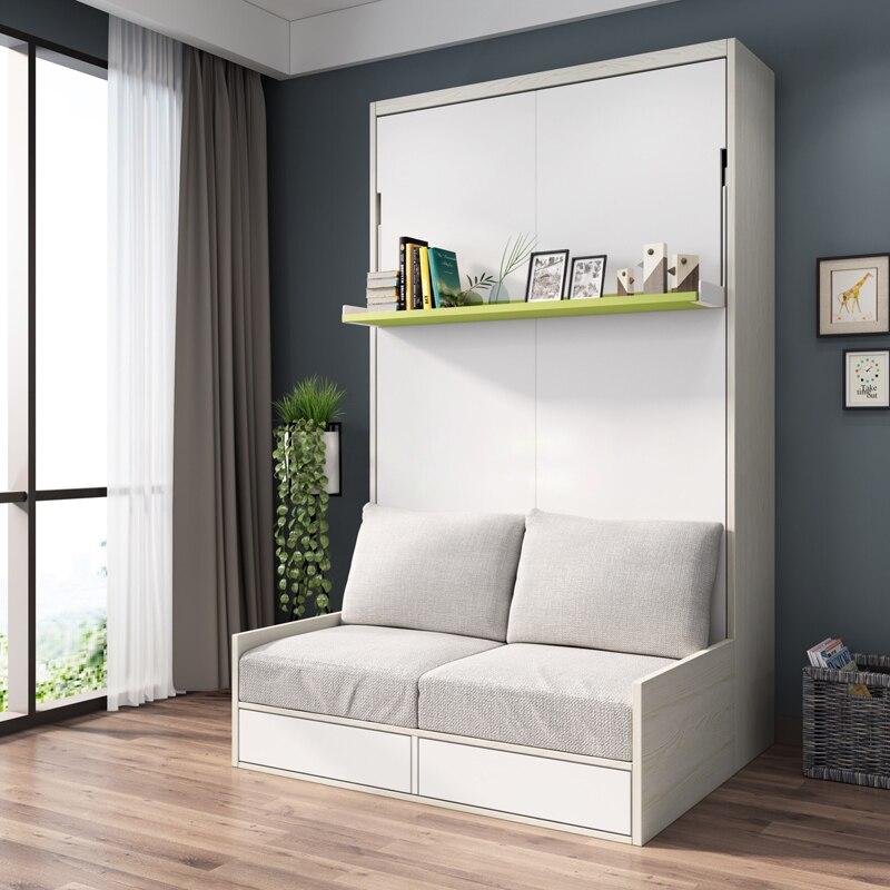 Cadre de lit en tissu doux électrique canapé mur lit Meubles de Maison Chambre camas allumé muebles de dormitorio yatak mobilya quarto