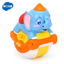HOLA 3105C Baby Toys Musical Sliding Animals Elephant with Lights & Music Electronic Toys Pets Toys for Children Boy Gifts