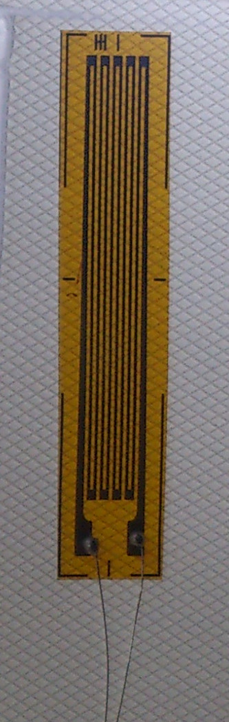 Foil type resistance strain gauge / strain gauge / concrete strain gauge BX120-2