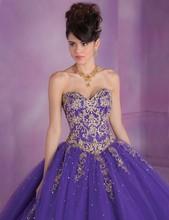 Tulle Lace Appliques Beaded Ball Gown Purple Cinderella Quinceanera Dresses 2016 Vestidos De 15 Anos k74