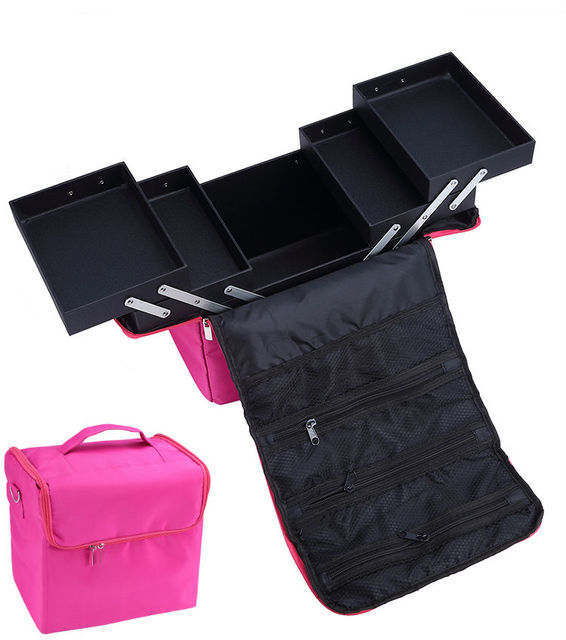 Cosmetic Case with inner tray fashion women makeup bag hanging