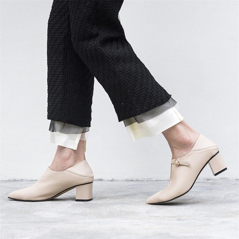 Del Oficina Pie Dedo La Las Bombas Zapatos Cuero 1 Beige Altos Tacones Sexy Alta Genuino Plataforma De negro Mujer Puntiagudo Fedonas Calidad Elegante Mujeres UZFFaq