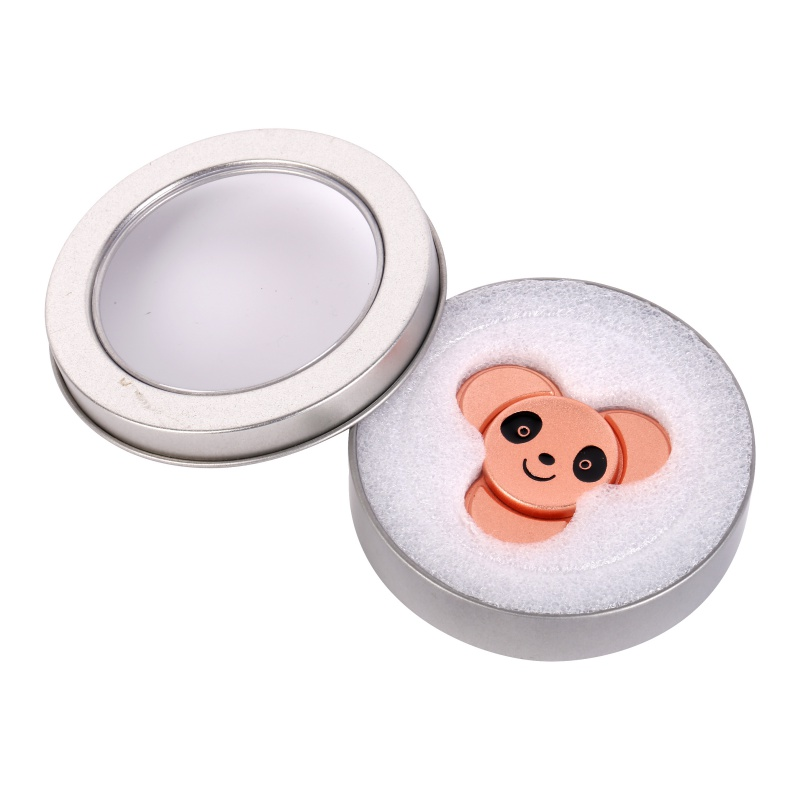 Lovely Panda Hand Spinner Zinc Alloy Three Corner EDC Fidget For Autism and ADHD Anxiety Stress Relief Toys new style edc round three corner camouflage hand spinner for autism and adhd anxiety stress relief focus toys