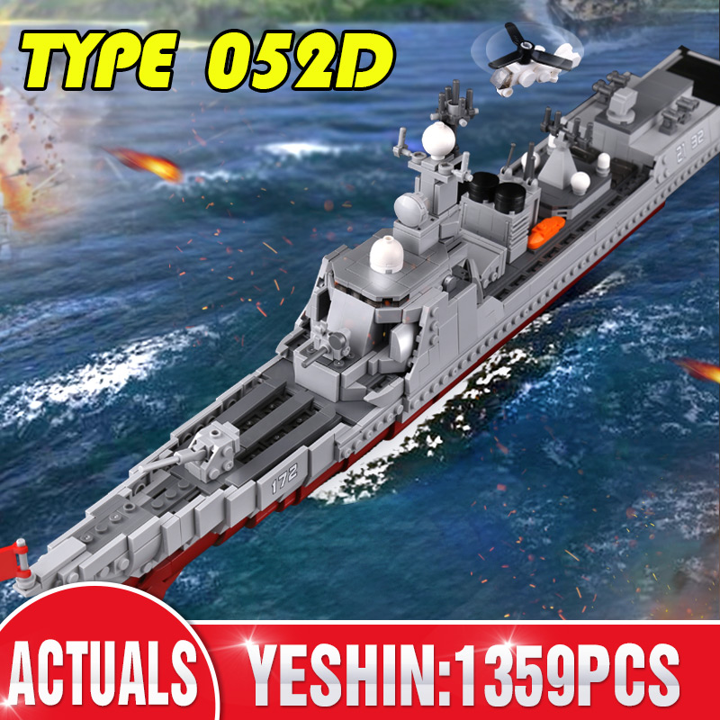 1359PCS XINGBAO 06028 Military Series The Missile Destroyer Set Building Blocks Bricks Kids Toys Ship Model Gift(China)