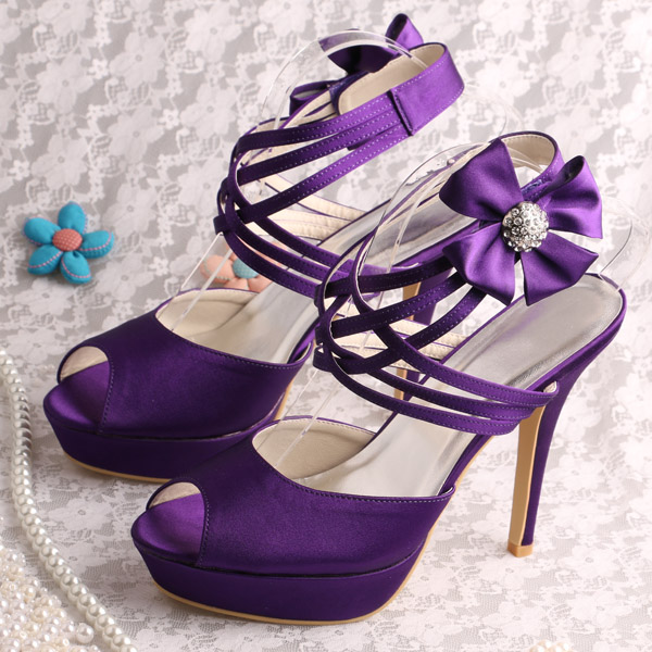 Wedopus MW682 Custom Handmade Purple Platform Sandals