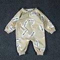 Nuevos mamelucos Del Bebé cisne impresión de manga larga Del Niño Del Mono monos Infantiles bebé recién nacido chicas chicos ropa