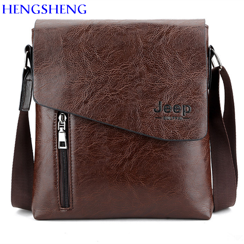 HENGSHENG Luxury PU leather men shoulder bags