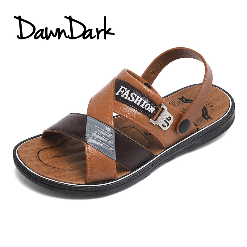Men Leather Sandals Outdoor Spring Summer Handmade Shoes for Male Breathable Man Casual Footwear Walking Sandals